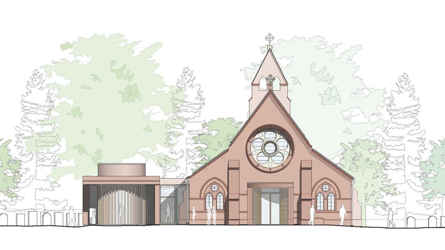 All Saints Proposed West Elevation